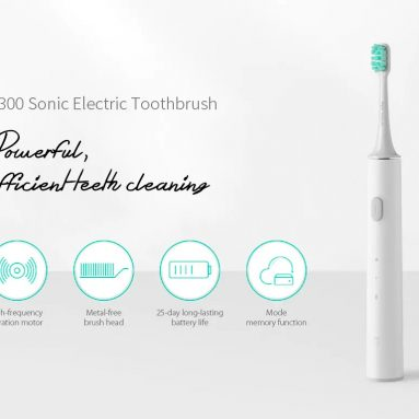 $21 with coupon for Xiaomi Mijia T300 Rechargeable Sonic Electric Toothbrush from GEARBEST