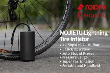 € 35 avec coupon pour Xiaomi Mojietu 150PSI 2600mAh Gonfleur électrique de détection de pression de pompe à pneu portable pour vélo moto voiture football de Youpin de BANGGOOD
