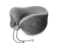 $25 with coupon for Xiaomi Multi-function U-shaped Massage Neck Pillow  –  GRAY from GearBest