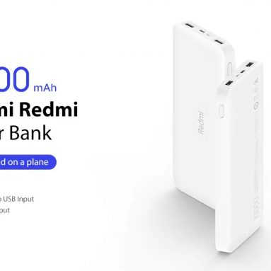 Xiaomi PB16LZM에 대한 쿠폰이 포함 된 100 Redmi Power Bank 10000mAh GEARBEST의 표준 버전