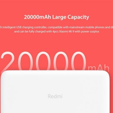 € 29 avec coupon pour Xiaomi PB200LZM Redmi Power Bank version 20000mAh Fast Charge de GEARBEST