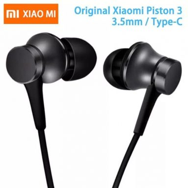 €7 with coupon for Xiaomi Piston Type-C Earphone In-ear Stereo Aluminum alloy Earbuds Headphone with Mic from BANGGOOD
