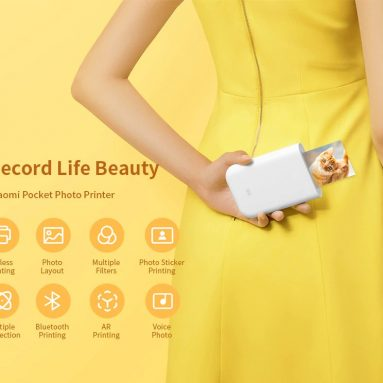 €57 with coupon for Xiaomi Pocket Photo Printer AR Technology / Multiple Connection / Voice Photo from GEARBEST