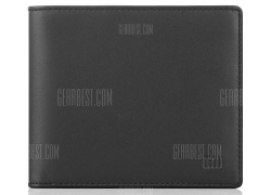 $21 with coupon for Xiaomi Portable Business Genuine Leather Bifold Wallet  –  BLACK from GearBest