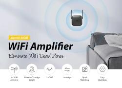 € 8 avec coupon pour Xiaomi Pro 300M Amplificateur WiFi 2.4GHZ avec antenne 2 de GEARVITA