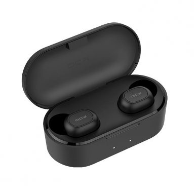 €20 with coupon for [bluetooth 5.0] Xiaomi QCY T2C Mini TWS Earphone HiFi Magnetic Bilateral Call Auto Pairing Stereo Waterproof Headphone – Black from BANGGOOD