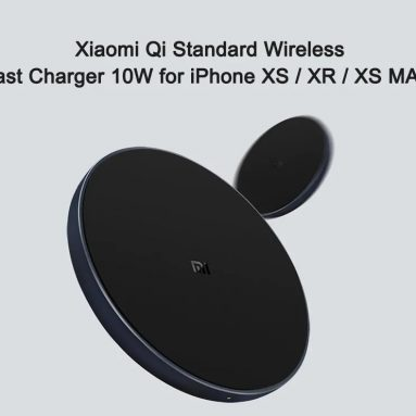 $16 with coupon for Xiaomi Qi Standard Wireless Fast Charger 10W for iPhone XS / XR / XS MAX – BLACK from GearBest