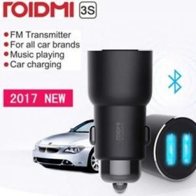 € 14 s kupónom pre Xiaomi ROIDMI 3S BFQ04RM Dual USB Bluetooth hudobná nabíjačka do auta pre mobilný telefón od spoločnosti BANGGOOD
