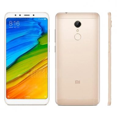 $109 with coupon for Xiaomi Redmi 5 4G Phablet 2GB RAM 16GB ROM  –  GOLDEN from GearBest
