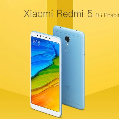 $129 with coupon for Xiaomi Redmi 5 4G Phablet 3GB RAM Global Version – BLUE from GearBest