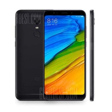 $127 with coupon for Xiaomi Redmi 5 4G Phablet 3GB RAM 32GB ROM Global Version  –  BLACK from GearBest