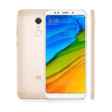 $159 with coupon for Xiaomi Redmi 5 Plus 4G Phablet Global Version 4GB RAM 64GB ROM  –  GOLDEN from GearBest