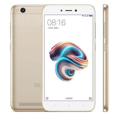 $84 with coupon for Xiaomi Redmi 5A 4G Smartphone Global Version  –  GOLDEN from Gearbest