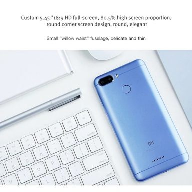 €100 with coupon for Xiaomi Redmi 6 4G 3GB RAM 64GB ROM Smartphone Global Version – BLUE from GearBest