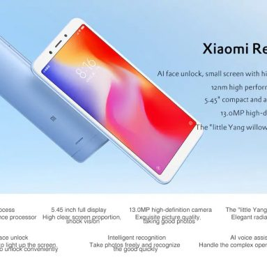 €75 with coupon for Xiaomi Redmi 6A 4G Smartphone Global Version – GOLD 2+16GB  from GearBest
