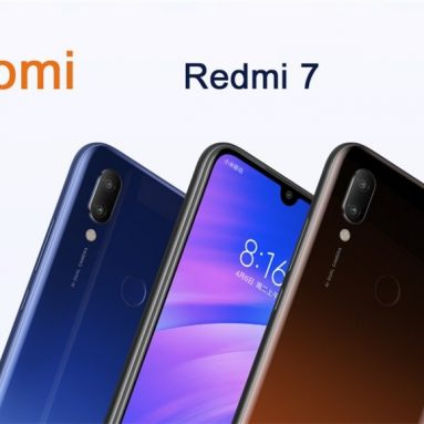 €121 with coupon for Xiaomi Redmi 7 Global Version 6.26 inch Dual Rear Camera 3GB RAM 64GB ROM Snapdragon 632 Octa core 4G Smartphone – Black from BANGGOOD