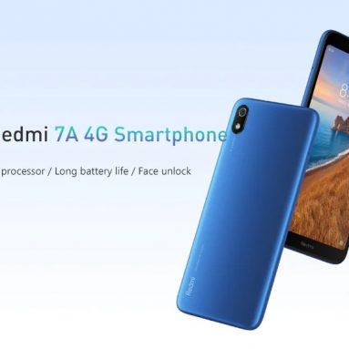 76 € s kupónem pro Xiaomi Redmi 7A Global Version 5.45 palce Face Unlock 4000mAh 2GB 32GB Snapdragon 439 Octa core 4G Smartphone EU ŠPANĚLSKO od BANGGOOD