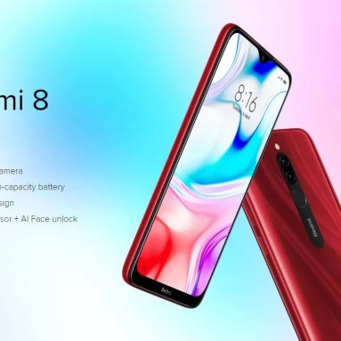 $149 with coupon for Xiaomi Redmi 8 Global Version 6.22 inch Dual Rear Camera 4GB 64GB 5000mAh Snapdragon 439 Octa core 4G Smartphone – Onyx Black from BANGGOOD