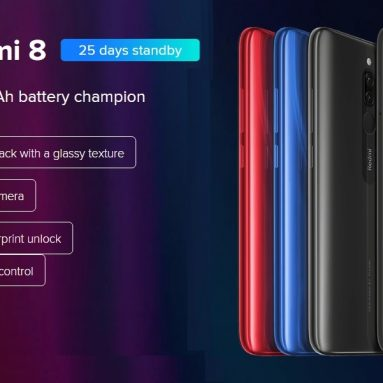 €116 with coupon for Xiaomi Redmi 8 Smartphone 4+64GB Onyx Black EU from GEARBEST
