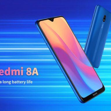 89 € s kupónem pro Xiaomi Redmi 8A 4G Smartphone 3GB RAM 32GB ROM EU ES WAREHOUSE od BANGGOOD