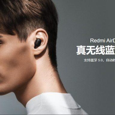 14 אירו עם קופון ל- Xiaomi Redmi AirDots המקורי S אוזניות TWS אוזניות bluetooth אוזניות משחק סטריאו נמוך Lag מצב נמוך אוזניות Earbus אלחוטי אמיתי מ- BANGGOOD