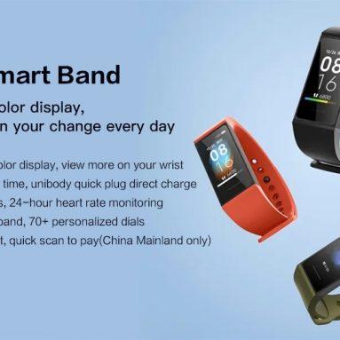 € 19 مع قسيمة لـ Xiaomi Redmi Band 1.08 بوصة شاشة ملونة تعمل باللمس 5ATM ضد الماء لمدة 14 يومًا مراقب معدل ضربات القلب للبطارية النسخة الصينية - مستودع الاتحاد الأوروبي الأسود من GEEKBUYING