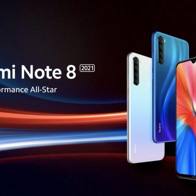 111 € mit Gutschein für Xiaomi Redmi Note 8 2021 Global Version 6.3 Zoll 48MP Quad Rückfahrkamera 4GB 64GB 4000mAh Helio G85 Octa Core 4G Smartphone von BANGGOOD