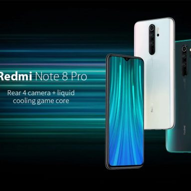 € 133 med kupon til Xiaomi Redmi Note 8 Pro Global version 6.53 tommer 64MP Quad Bagkamera 6GB 128GB NFC 4500mAh Helio G90T Octa Core 4G Smartphone fra BANGGOOD