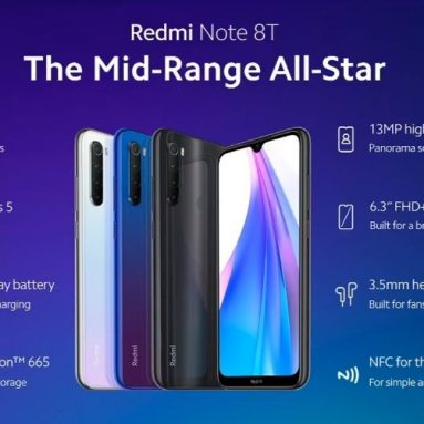 € 187 עם קופון ל- Xiaomi Redmi Note 8T גרסה גלובלית 6.3 אינץ 'NFC 48MP Quad מצלמה אחורית 4GB 64GB 4000mAh Snapdragon 665 Octa core 4G Smartphone - Moonshadow Gray מבית BANGGOOD