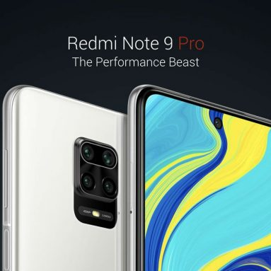 €170 with coupon for Xiaomi Redmi Note 9 Pro Global Version 6.67 inch 64MP Quad Camera 6GB 128GB 5020mAh NFC Snapdragon 720G Octa core 4G Smartphone – white BANGGOOD