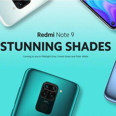 € 100 med kupong for Xiaomi Redmi Note 9 Global Versjon 6.53 tommer 48MP Quad-kamera 3 GB 64 GB 5020 mAh Helio G85 Octa-kjerne 4G Smartphone - Forest Green NFC-versjon fra BANGGOOD