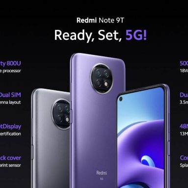 € Xiaomi Redmi için kuponlu 178 € Note 9T 5G NFC 4GB 64GB Global Version Smartphone, GEARBEST'ten çift 5G SIM ile