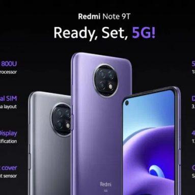 139 € עם קופון ל- Xiaomi Redmi Note 9T 5G Smartphone 4 + 64GB - גרסת האיחוד האירופי ממחסן האיחוד האירופי EDWAYBUY