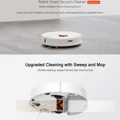 €325 with coupon for roborock S50 Smart Robot Vacuum Cleaner – WHITE ROBOROCK S50 SECOND-GENERATION INTERNATIONAL VERSION from GEARBEST