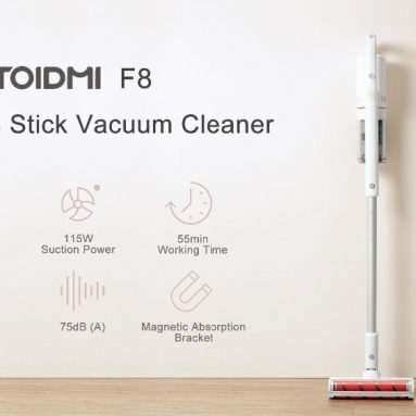 $236 with coupon for Roidmi F8 Cordless Stick Vacuum Cleaner Lightweght Handheld Dust Collector 18500Pa with Magnet Stand Charger App Control from Xiaomi Youpin – 110~240V from BANGGOOD