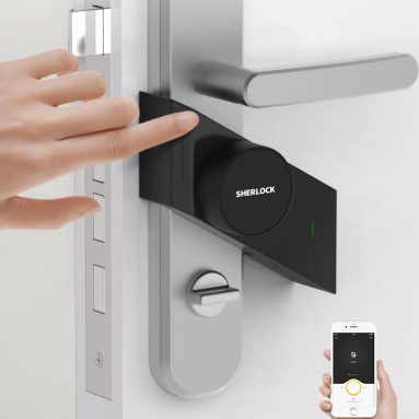 €7 with coupon for Xiaomi SHERLOCK Smart Stick Lock S APP Intelligent Lock Anti-Theft Unlock Lock Remotely Control Door Lock – right from BANGGOOD