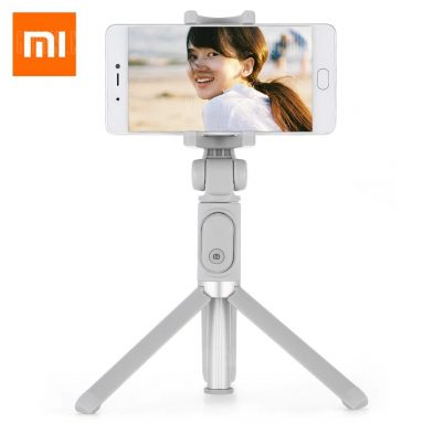 $21 with coupon for Xiaomi Selfie Stick Bluetooth Remote Shutter Tripod Holder  –  GRAY from GearBest
