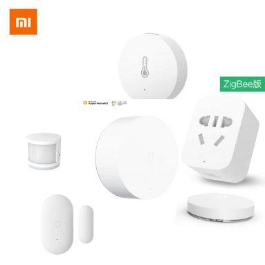 44 € με κουπόνι για Xiaomi Smart Home Kits Multimode Gateway Door Window Sensor Human Body Wireless Switch υγρασία Zigbee Socket MI APP - Bundle 3in1 from GEARBEST