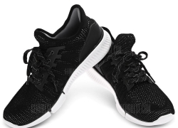 $38 with coupon for Xiaomi Smart Sneakers with Intelligent Chip  – BLACK from GearBest
