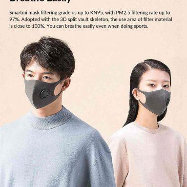 10 USD cu cupon pentru masca de fata anti-poluare Xiaomi Smartmi de la TOMTOP