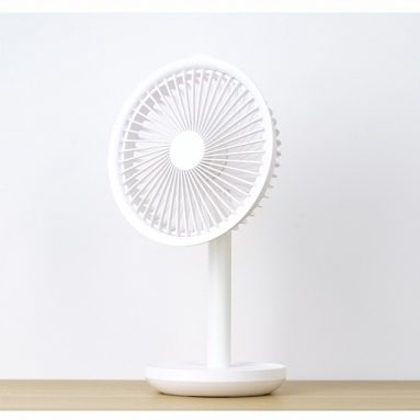 €27 with coupon for Xiaomi Solove F5 Desktop Fan 4000mAh Battery Capacity USB Charging Low Noise from Xiaomi Youpin – White from BANGGOOD