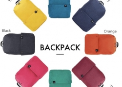 €6 with coupon for Xiaomi Trendy Solid Color Lightweight Water-resistant Backpack from GearBest