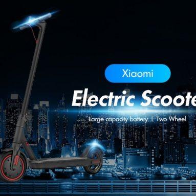 256 € s kupónom pre veľkokapacitnú batériu Xiaomi Two Wheels Electric Scooter od spoločnosti GEARBEST