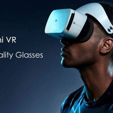 $56 with coupon for Original Xiaomi VR 3D Glasses with Remote Controller from GearBest