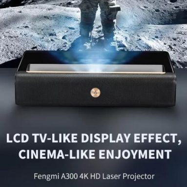 €2419 with coupon for Xiaomi FENGMI WEMAX A300 4K ALPD Ultra Short Throw Laser Projector 250nit 4000:1 Contrast Ratio Support HDR Voice Control Cinema Theater Projector from BANGGOOD