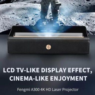 € 2419 s kupónom pre Xiaomi FENGMI WEMAX A300 4K ALPD Laserový projektor s veľmi krátkou vzdialenosťou 250nit 4000: 1 Kontrastný pomer Podpora HDR Hlasové ovládanie Kino Divadelný projektor od BANGGOOD
