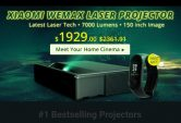 $1899 with coupon for Xiaomi WEMAX ONE MJJGYY01FM Ultra Short Throw 7000 ANSI Lumens Laser Projector + free gift Xiaomi Mi Band 3 from GearBest