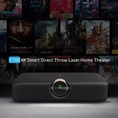 € 2599 s kuponom za Xiaomi Wemax C700 4K laserski projektor Telefoto Inteligentni izravni projektor za izbacivanje Appotronics Laser TV Umjetno inteligentno 3D projektor za kućno kino od BANGGOOD