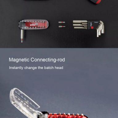 €13 with coupon for Xiaomi Wiha 17 in 1 Daily Use Screwdriver Set Head Precision Chrome Vanadium Steel DIY Screwdriver Bits Repair Tool Set from BANGGOOD