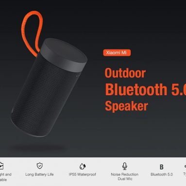 €32 with coupon for Xiaomi Wireless bluetooth 5.0 Speaker Portable Outdoors Dual-mic Noise Reduction Type-C Charging Loud Speaker from BANGGOOD